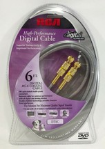 RCA - DT6C - RG-6 Digital Coaxial Video Cable F Male-Male 6 ft. - $9.85
