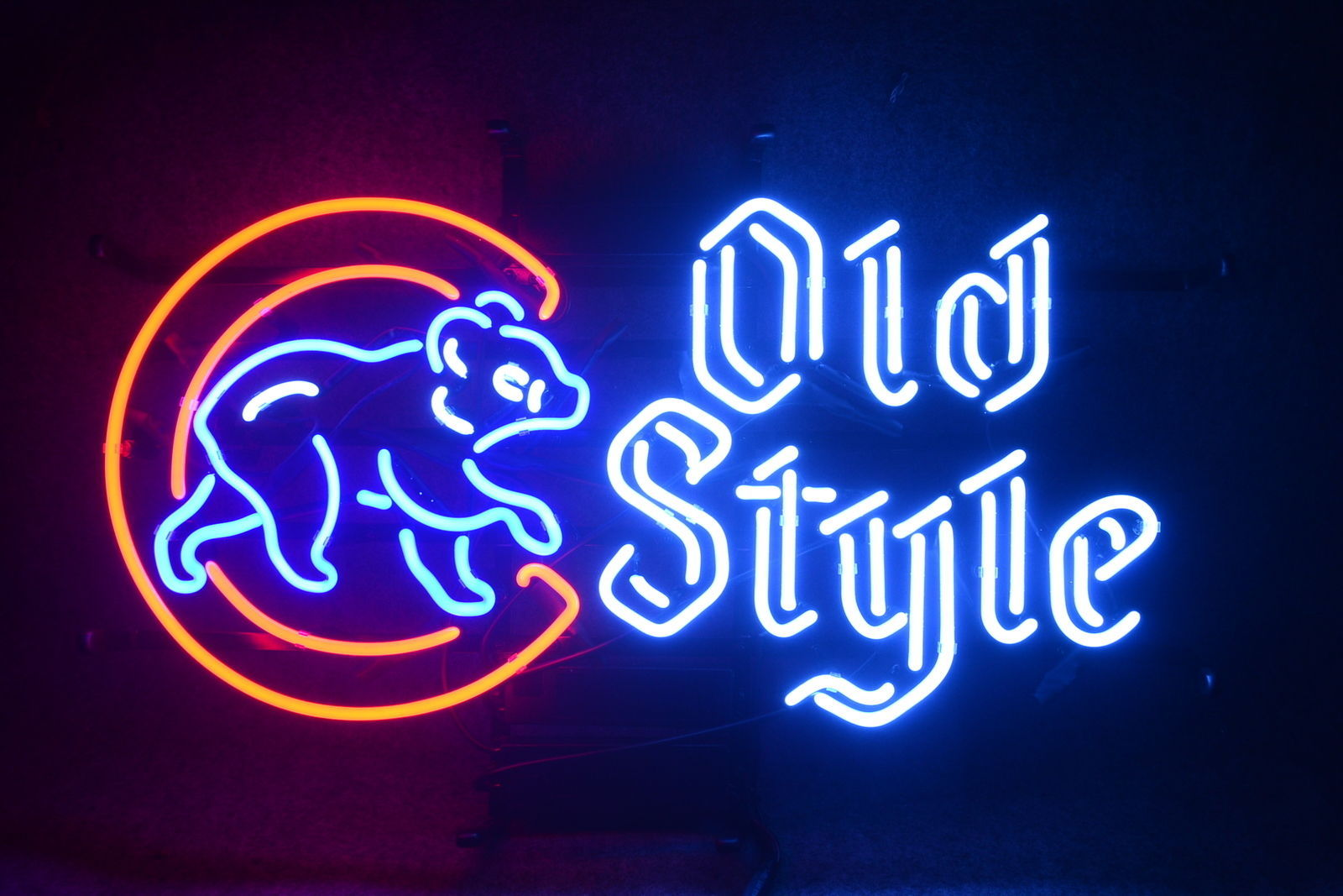 """New 2016 Chicago Cubs World Series Champs Old Style Beer Neon Sign 24""""x20"""""""
