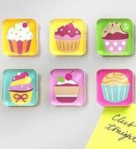Refrigerator Magnets Holder Memos Note Holder Magnet Display Muffins Set... - $31.73