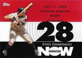 Ryan Zimmerman Topps 2007 #GN246 Generation Now Washington Nationals - $0.75