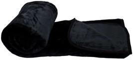 Plüsch Fellimitat Fleece schwarz 200x240cm XL dickes Überwurf Decke - $57.86