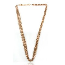 Womens 925 Sterling Silver Pearl Beaded Chain Designer Necklace Jewelry - $75.24