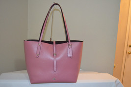 NWT Coach Market Tote Glitter Rose Polished Pebbled Leather Shopper Tote... - $181.17