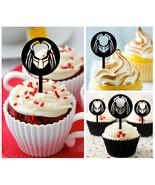 Ca266 Decorations cupcake toppers Predator vs Alien silhouette Package :... - $10.00