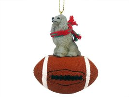Poodle Gray Football Ornament - $17.99