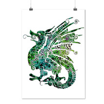 Fantasy Chinese Dragon Welsh Flag Matte/Glossy Poster A0 A1 A2 A3 A4 | W... - $7.99+