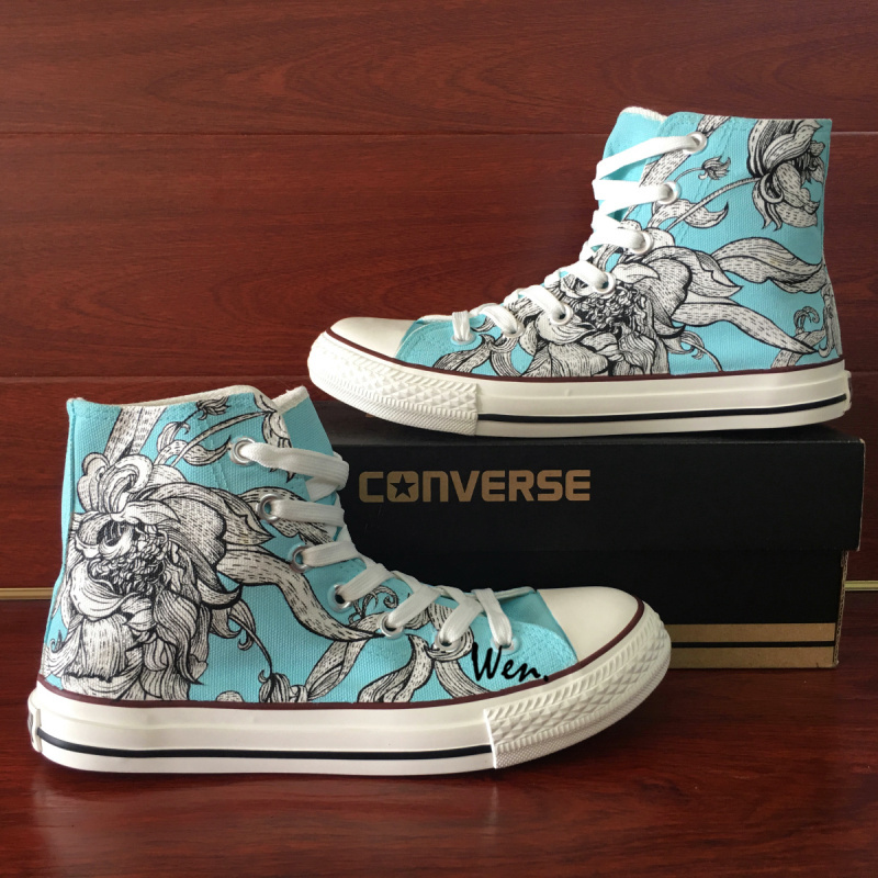 40f46072a37b6 Hand Painted Converse Shoes Original Design and 50 similar items