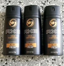 3 X Axe Gold Temptation Mens Antiperspirant Deodorant Body Spray - $18.80