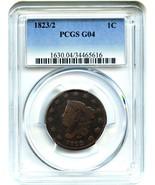 1823/2 1c PCGS Good-04 BN - Large Cent - $193.05