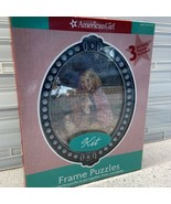 American Girl Kit Kittredge Puzzle & Frame Set Three 50 Piece Oval Puzzl... - $9.50