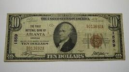$10 1929 Atlanta Georgia GA National Currency Bank Note Bill Ch. #1559 F... - $93.49