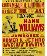 Hank Williams - 1953 - Canton OH - Concert Poster - $9.99+