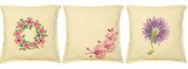 Floral Design Printed Khaki Decorative Pillows Cushion Case VPLC_02 Size... - $10.50