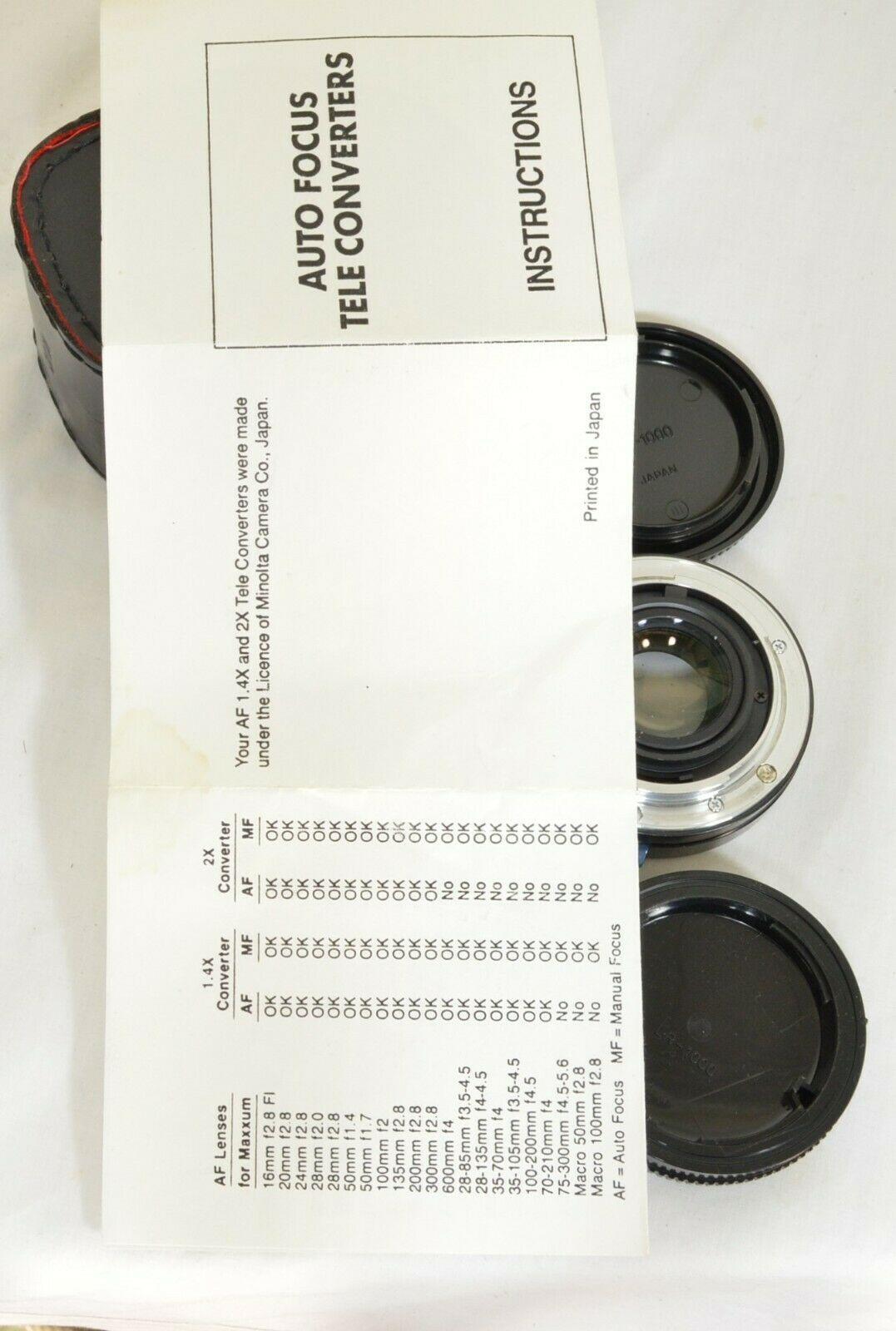 Kalimar 1.4 X M/AF Tele Converter Auto Focus camera lens w/ case & instructions image 9