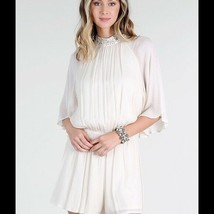 NEW Ivory Romper With Angel Wings Size Small, Medium or Large - $28.22