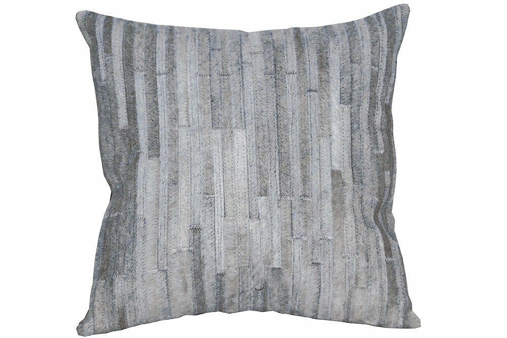 U-L512 PL512-F COWHIDE LEATHER HAIR-ON PATCHWORK CUSHION PILLOW COVER image 3