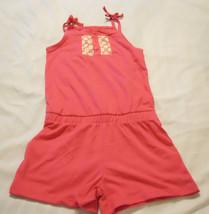 Girls Knit Romper Jumpsuit Shorts Sz XS 4-5 One Piece New - $13.98