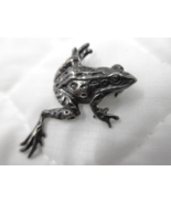 Sterling Silver Frog Pin Brooch SHUBE'S Signed with $ © STERLING Vintage   - $40.00