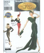 """Simplicity 0683 9317 Couturier Doll Cothes Pattern 15.5"""" Dolls Uncut Ser... - $19.99"""