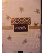 """Colordrift Bee Have Bee Hive Bees Gold/White Indoor/Outdoor Tablecloth 84"""" - $34.00"""