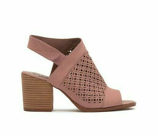 Primary image for Brand New in Box Vince Camuto Kanito Nubuck Heeled Sandals Heather Rose Size 8.5