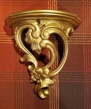 Vintage 1970 Syroco Ornate Gold Wall Shelf - $27.99