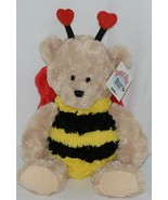 GANZ Brand HV9186 Brown Red Black Yellow Striped Sweet Bee Bear - $17.00