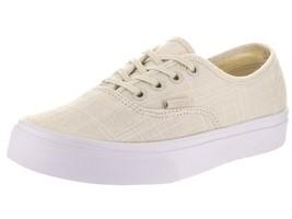 f0be3c0fde Vans Unisex Authentic (Hemp Linen) Turtledove T Skate Shoe 8.5 Men US