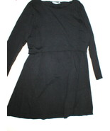New Womens NWT Athleta Dress Black XL Ruched Yoga Long Sleeve Soft Cozy Up - $79.99