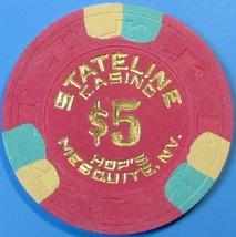 $5 Casino Chip, Stateline, Mesquite, NV. 1982. T54. - $6.99