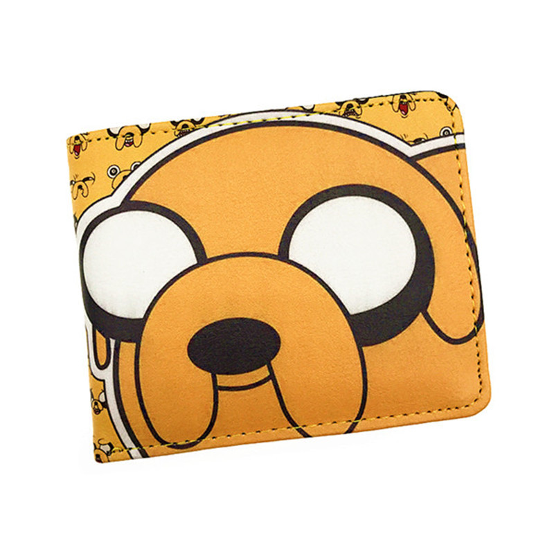 Primary image for Anime Comics Cartoon Adventure Time Wallet Jake The Dog Purse With Card Holder