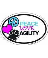 Imagine This 4-Inch by 6-Inch Car Magnet Oval, Peace Love Agility - $9.90