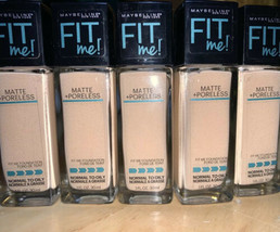 X5 Maybelline Fit Me Matte + Poreless Foundation #120 Classic Ivory NEW - $29.69