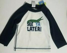 Gymboree Toddler Boy's Swim Shirt Size 18-24 months See ya later Long Sleeve New - $14.54