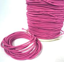 1.5mm width - 5 yds-10yd Azalea Red Elastic Thread Round Elastic Cord Co... - $4.99+