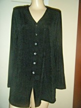 NWT CHICO'S TRAVELER'S BLACK KNIT BROADWAY JACKET SIZE CHICO'S 1 $99 - $48.37
