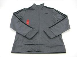 adidas Boys Active Athletic Youth Track Full Zipper Jacket M-(10/12) Gray - $25.47