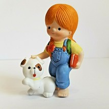 Vintage 1982 Country Cousins Katie with Dog Enesco Figurine - $8.99