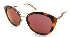 Burberry Sunglasses BE 4251Q 3316/D0 53-20-140 Havana / Dark Violet Mirror - $118.19