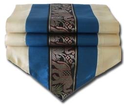 TIL133 blue Elephant table runner tablecloth tablerunner silk 150x30cm 5... - $17.99