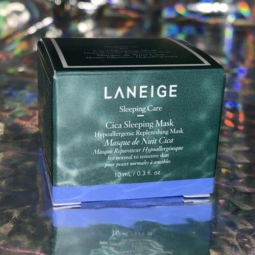New In Box 10mL Laneige Cica Sleeping Mask Hypoallergenic& Replenishing