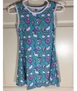 Urban Smalls Girls' Casual Aqua Unicorn Party Sleeveless Dress - Toddler... - $14.95