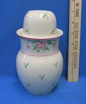 Vintage 1985 Teleflora 2 pc Vase Pitcher Cup Combo Planter Tulip Flowers  - $13.85