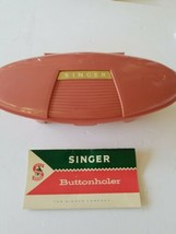 Vintage Singer Buttonholer with Instructions Pink Case 5 Cams - $34.16