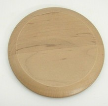"Longaberger WoodCrafts Wood Round Keeping Basket Lid 5"" Only  - $9.89"
