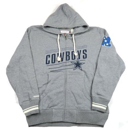 XL Men's NFL Dallas Cowboys Vintage Stadium Hoodie Full Zip Hooded Sweatshirt