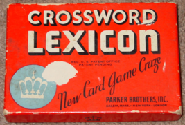 Crossword Lexicon Game 1937 Parker Brothers vintage COMPLETE - $20.00