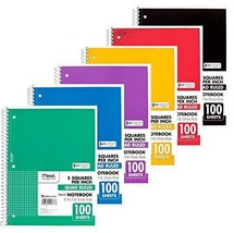 Mead Spiral Quad Ruled Notebook, 1 subject 5 squares per inch 100 Sheets... - $29.89 CAD