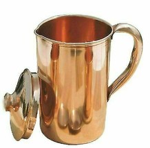 Pure Copper Smooth Water Jug/Copper Pitcher for Ayurveda Health Benefit ... - $30.30
