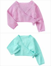 NWT Gymboree Ballet Class Baby Girl Purple Turquoise Cropped Cardigan Sweater - $10.99